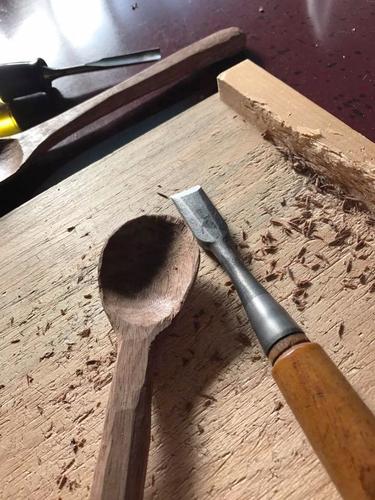 木のスプーン作り教室