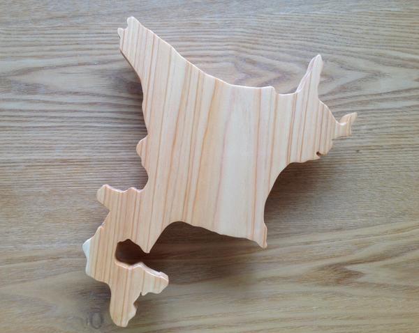 北海道の形の刺身盛り皿