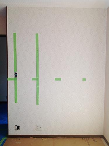 作り付けのテレビボードを製作しました